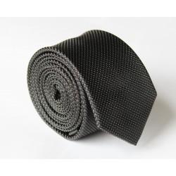 Čierna kravata ANGELO di MONTI ADM-128