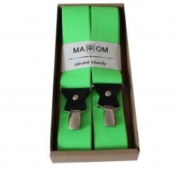 Pánske traky - raziace zelené