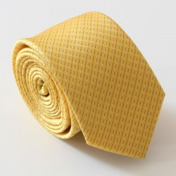 Žltá kravata ANGELO di MONTI ADM-141