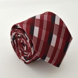 Červená kravata s proužky ANGELO di MONTI