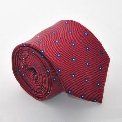 Červená kravata s kostičkama 2 ANGELO di MONTI