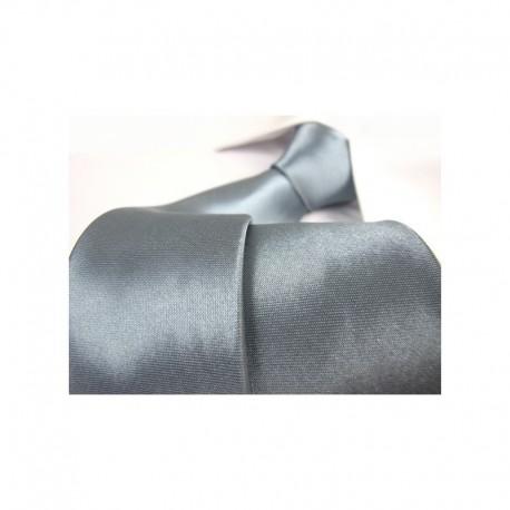 Šedá kravata - lesklá