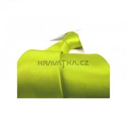 Zelená kravata - lesklá