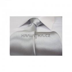 Strieborná kravata - lesklá