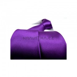Fialová kravata - lesklá