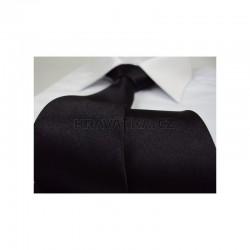 Čierna kravata - lesklá