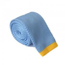 Pletená kravata MARROM - svetlo modrá
