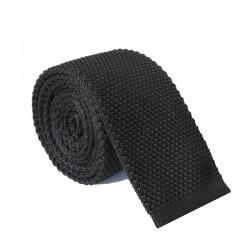 Pletená kravata MARROM - čierna