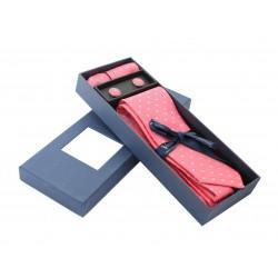 Růžová kravata v dárkovém balení Vernon