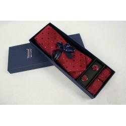 Vínová kravata v darčekovom balení Vernon (2)