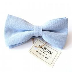 Pánsky motýlik MARROM - svetlo modrý II
