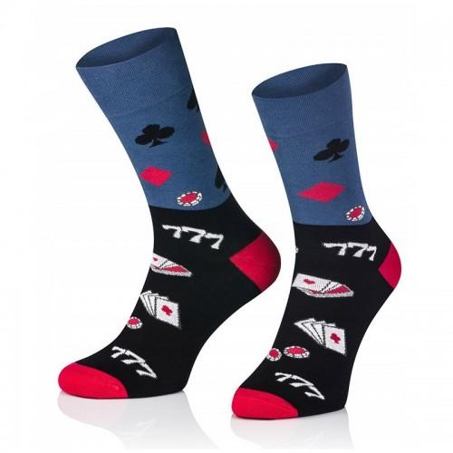 Pánske ponožky MARROM - poker face 41/43