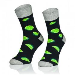 Pánske ponožky MARROM - limetky 41/43