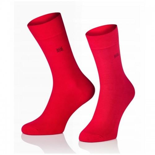 Pánske ponožky MARROM - červené 41/43