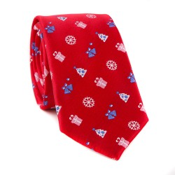 Vianočná kravata MARROM - červená 01