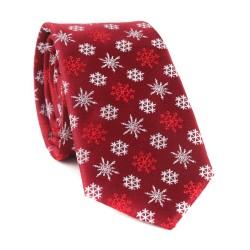 Vianočná kravata MARROM - vínová 03