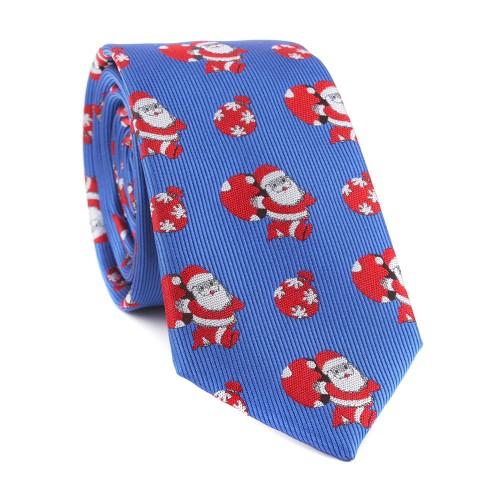 Vianočná kravata MARROM - modrá 05