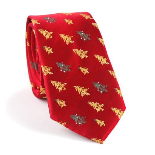 Vianočná kravata MARROM - červená 05