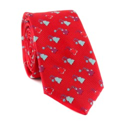 Vianočná kravata MARROM - červená 07