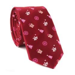 Vánoční kravata MARROM - vínová 09