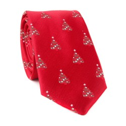 Vánoční kravata MARROM - červená 10