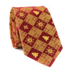 Vánoční kravata MARROM - vínová 12