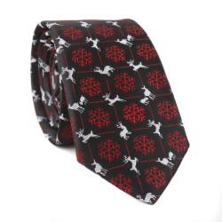 Vianočná kravata MARROM - čierna 03