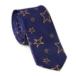 Crazy kravata - modrá s hviezdičkami