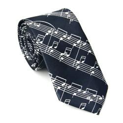 Crazy kravata - černá s notami