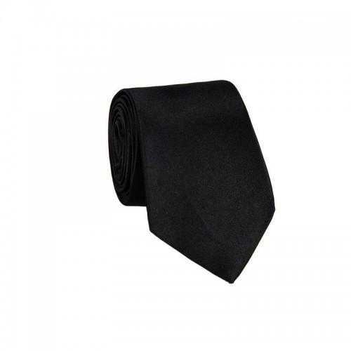 Hodvábna kravata MARROM - čierna