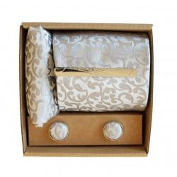 Šedá kravata so vzorom v darčekovom balení MARROM