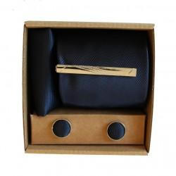 Tmavě modrá kravata v dárkovém balení MARROM