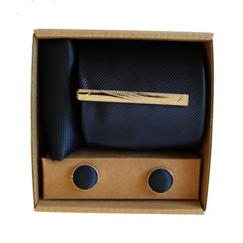 Tmavo modrá kravata v darčekovom balení MARROM