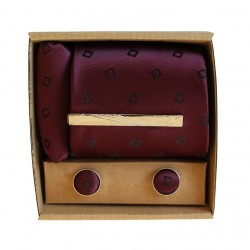 Fialová kravata s jemným vzorom v darčekovom balení MARROM