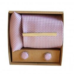 Svetlo fialová kravata v darčekovom balení MARROM