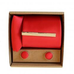 Červená kravata v darčekovom balení MARROM