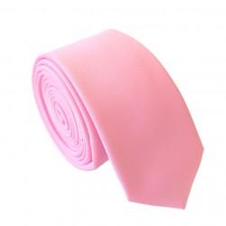 Růžová kravata - SLIM