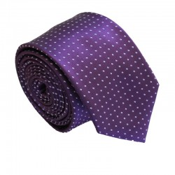 Fialová kravata ANGELO di MONTI ADM-152