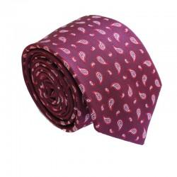 Vínová kravata ANGELO di MONTI ADM-157