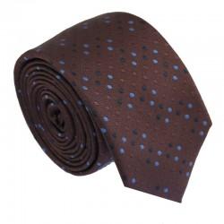 Hnedá kravata ANGELO di MONTI ADM-177