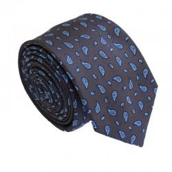 Hnedá kravata ANGELO di MONTI ADM-178
