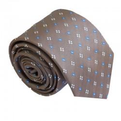 Hnedá kravata ANGELO di MONTI ADM-179
