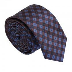 Hnedá kravata ANGELO di MONTI ADM-180