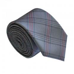 Šedá kravata ANGELO di MONTI ADM-187