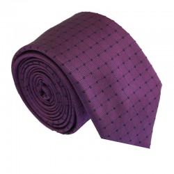 Fialová kravata ANGELO di MONTI ADM-204