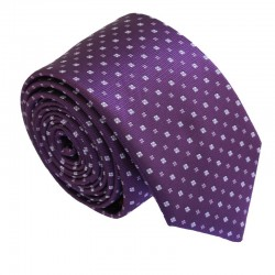 Fialová kravata ANGELO di MONTI ADM-205