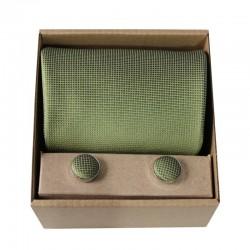 Zelená kravata v darčekovom balení MARROM