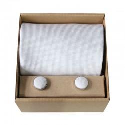 Biela kravata v darčekovom balení MARROM