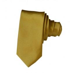 Jednofarebná SLIM kravata (zlato-zelená)