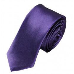 Jednobarevná SLIM kravata (tmavě fialová)